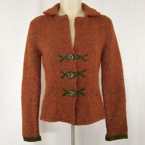 Anthropologie HWR Cardigan w/Crushed Velvet Trim